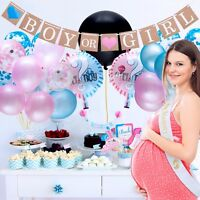 1Set Gender Reveal Party Supplies Baby Shower Boy or Girl Reveal Balloon Kit