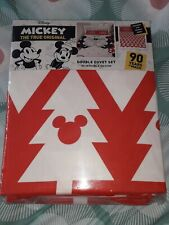 Disney Mickey Mouse And Minnie Christmas Reversible Duvet Set Double Bedding