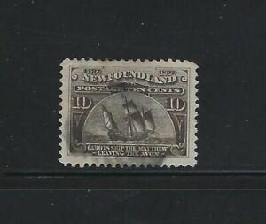 NEWFOUNDLAND - #68 - 10c CABOT'S SHIP THE MATTHEW USED STAMP