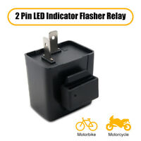 2Pin Speed LED Flasher Relay 12V For Car Motorcycle Turn Signal Light Blinker x1