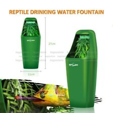 Reptile Drinking Water Fountains Feeding Chameleon Lizard Terrarium Dispenser