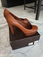 Gucci cognac leather pumps 37 - US size 7  tacco 11 - 4.3' heels