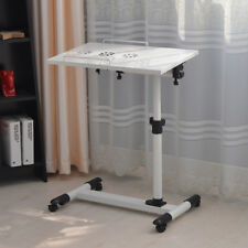 White Metal Portable Laptop Stand Desk Hospital Sofa Bed Tray with Cooling