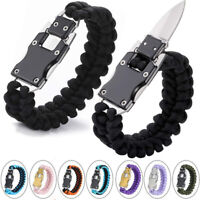 Paracord Folding Knife Bracelet Survival Cord Emergency Tactical EDC Bracelet