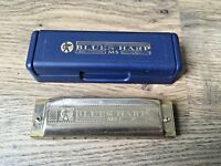 Hohner Blues Harp MS Harmonica Mouth Organ- 10 Hole- In Case- Good Condition