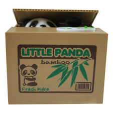 Cute Auto Electric Stealing Coin Bear Panda Money Storage Saving Box Bank nw