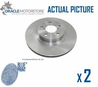 2 x NEW BLUE PRINT FRONT BRAKE DISCS SET BRAKING DISCS PAIR OE QUALITY ADS74313