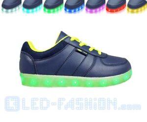 LED-Schuhe Disco Marine Lico Markenschuhe Schuh blau mehrfarbig leuchtet Party