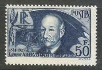 France 1938 MNH Mi 425a Sc 348 Clement Ader, aviation pioneer ** French inventor