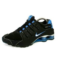 Rare 2013 Nike Shox NZ Athletic Shoes Black Blue Silver Men Size 8 US 378341-056
