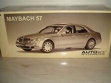 Maybach 57 Silber / Silber AutoArt Millenium Extrem Seltene Farbe OVP NEU 1:18
