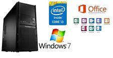 Neu Computer Komplett PC Intel i3 2120 3,30GHz 6GB DDR3 1TB Win 7 Office 2013