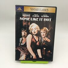 Some Like It Hot Dvd Marilyn Monroe Tony Curtis Jack Lemmon Vintage Classics