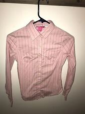 DEAR by Amanda Bynes Light Pink Striped Shirt Size XS