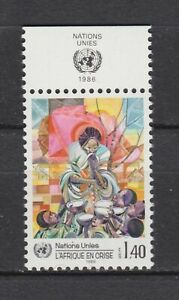 s10762) UNITED NATIONS (GENEVE) MNH** 1986, Aid to Africa 1v + LAB