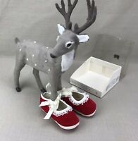 Lullaby Vintage Baby Girl Shoes Red Velvet Size 2 (5-8 mos) Fancy Christmas