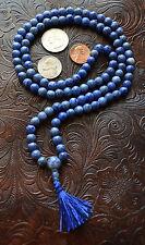 Sodalite Handmade 8mm 108+1 Japa Mala Beads Necklace chanting mantra- Energized