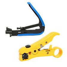 Compression Tool F RG59 RG6 RG11 Connector Cable Coax Coaxial Crimper Stripper
