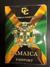 JAMAICA PASSPORT COVER ROOTS REGGAE CULTURE 13cm x 9.5cm