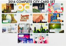 2016 Starbucks Cards US City Set Lot 14 Miami Orlando Chicago San Diego OC