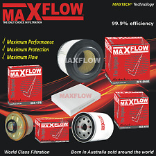 Fit Hilux KUN16 T/D 3.0L 1KD-FTV Air Cabin Fuel Oil Filter Service Kit Maxflow®