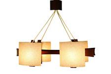 Scandic Design Pendel Leuchte Teak & Granulat Hänge Lampe Vintage Dansk 60er