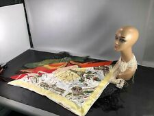 Lot of Vintage Scarves-Metallic, Silk, Graphic +
