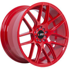 F1R wheel F18 18X9.5 5-100/114.3 ET+20 RED FIT Nissan 240SX 300ZX 350Z 370Z Alti