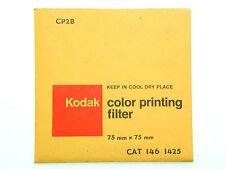 KODAK WRATTEN CP2B FILTER  75 x 75 mm (3x3inch) - Brand New & Sealed