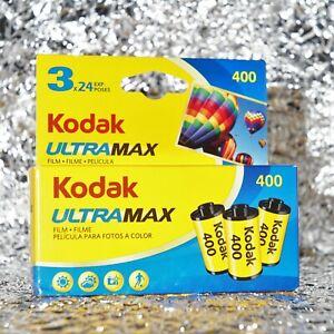*BEST PRICE* 3 rolls of Kodak Ultramax 400 35mm (24 exposures) film (FREE POST)