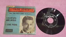 Jack Jones Lollipops and roses I love Paris  press Italy 45 giri usato rare