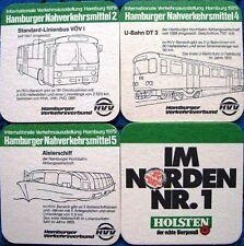Bierdeckel Serie Holsten Hamburg - Verkehrsausstellung