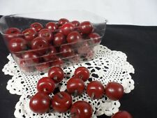 *Decorative pieces - Marble size wood red balls with a stem