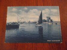 Cartolina in bianco e nero di Rimini CLUB NAUTICO  viaggiata anni 50