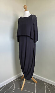 OUT OF EXILE Amazing Dark Grey Viscose Balloon Hem Dress With Top Size S-M
