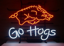 Neon Light Go Hogs Signs Beer Bar Pub Party Store Homeroom Retro Decor 19x15