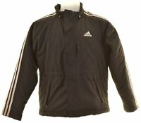 ADIDAS Boys Padded Jacket 11-12 Years Black Polyester  JS13