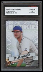 PETER 'PETE' ALONSO 2018 LEAF PRIZED 1ST GRADED 10 ROOKIE CARD RC NEW YORK METS