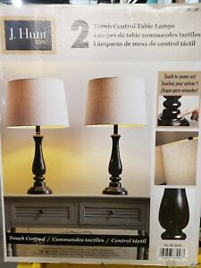 J. Hunt 2 Touch Control Table Lamps Bronze Finish