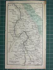 1904 SMALL MAP ~ UPPER EGYPT ~ KORDOFAN NUBIAN DESERT NILE MEROE ISLAND