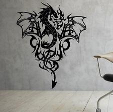 Gothic Dragon Wall Decal Vinyl Sticker Interior Housewares Art Decor (1dra6ws)
