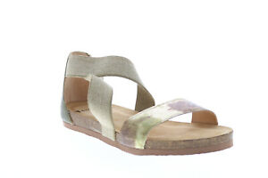 Think Shik X 82593-I63 Womens Gray Leather Strap Sandals Shoes 8