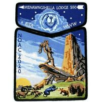 NOAC 2020 Menawngihella Lodge 550 Flap Disney Lion King 2-Patch OA Scouts BSA