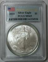 2010 American Silver Eagle $1 25th Year of Issue PCGS MS69