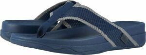 FITFLOP SURFER FLIP FLOPS NEW MEN'S SIZE 11 MIDNIGHT NAVY/CHARCOAL