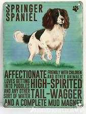 20cm metal vintage style Springer Spaniel breed character hanging sign plaque