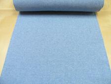 Bündchen • hellblau meliert • Baumwoll Jersey glatt uni • 0,5m