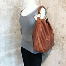 Lucky Brand WHIPSTITCH Vintage Inspired Leather Hobo Bag Cognac/Whiskey Brown