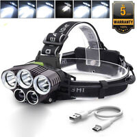 90000LM 6 Modes T6 LED Headlamp Rechargeable Headlight Flashlight Head Torch