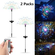 2X Solar Powered Garden Led Starburst Light Firework Lamp Plant Path Fairy Light